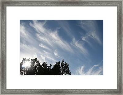 Framed Print featuring the photograph Mountain Sky by David S Reynolds