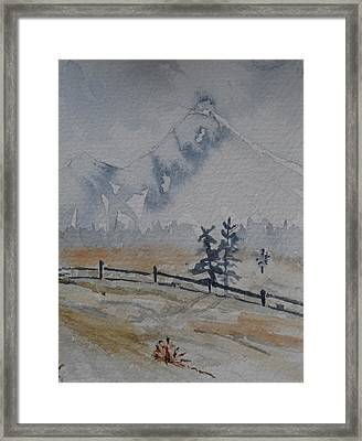 Mountain Snow Framed Print by Catherine Arcolio