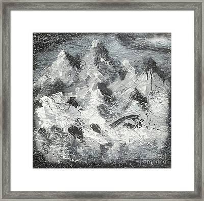 Mountain Snow Life Framed Print