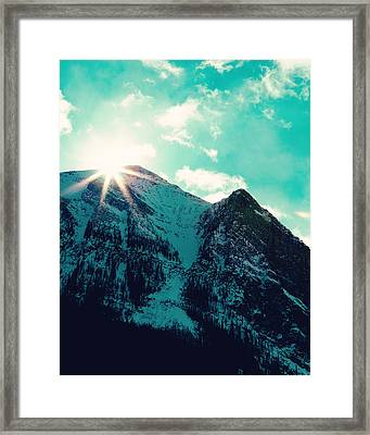 Mountain Starburst Framed Print by Kim Fearheiley