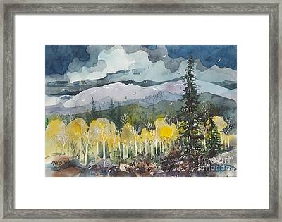 Mountain Storm Framed Print