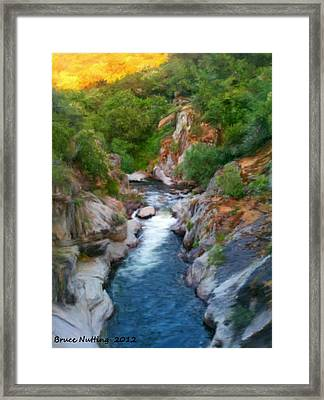 Framed Print featuring the painting Mountain Stream by Bruce Nutting