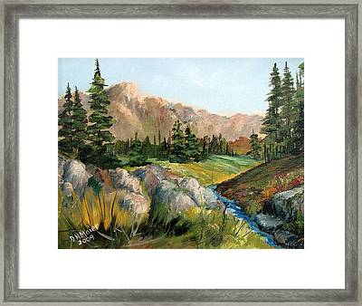 Mountain Stream Framed Print by Dorothy Maier