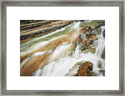 Mountain Stream Glacier National Park  Framed Print