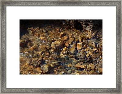 Framed Print featuring the digital art Mountain Stream by Kelvin Booker