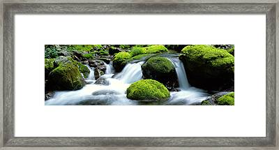 Mountain Stream Kyoto Japan Framed Print