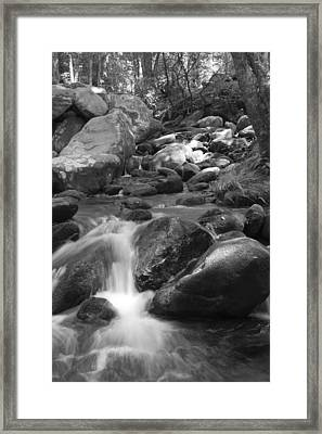 Mountain Stream Monochrome Framed Print