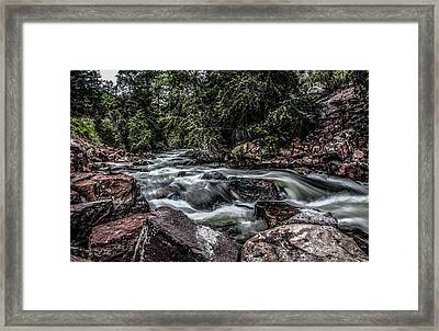 Framed Print featuring the photograph Mountain Stream by Ray Congrove