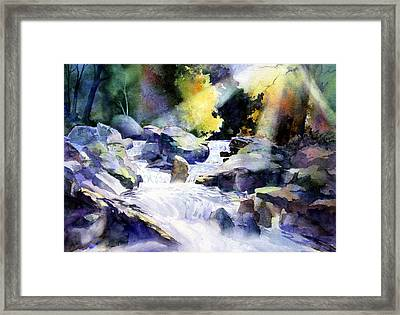 Mountain Stream Framed Print by Tom Poole
