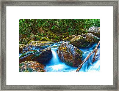 Framed Print featuring the photograph Mountain Streams by Alex Grichenko