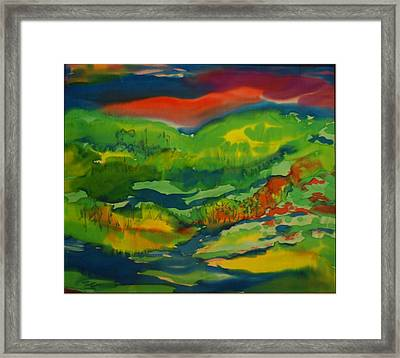 Framed Print featuring the painting Mountain Streams by Susan D Moody