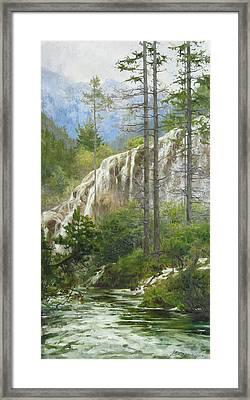 Mountain Streams Framed Print by Victoria Kharchenko