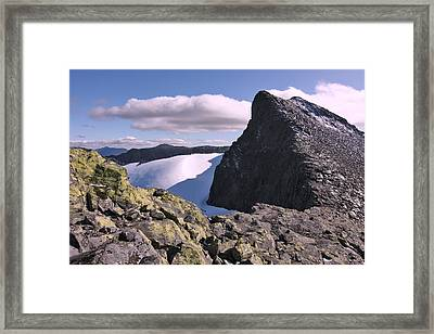 Mountain Summit Ridge Framed Print