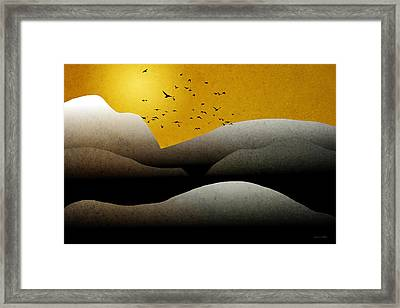 Mountain Sunrise Landscape Art Framed Print by Christina Rollo
