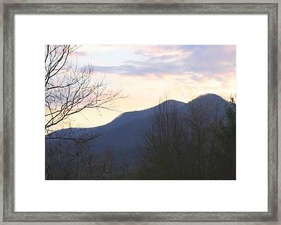 Mountain Sunset Eight Framed Print