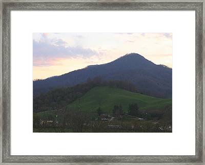 Mountain Sunset Eleven Framed Print