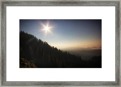 Mountain Sunset Framed Print by Ian Hufton