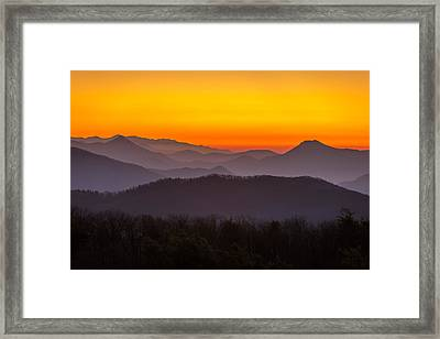 Mountain Sunset In Tennessee Framed Print