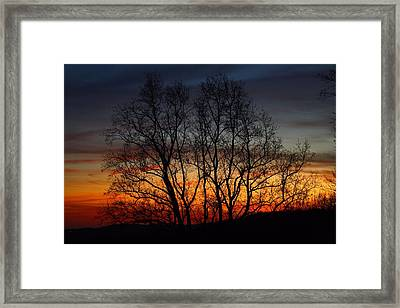 Framed Print featuring the photograph Mountain Sunset by Kathryn Meyer