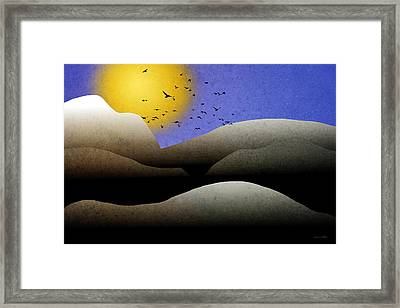 Mountain Sunset Landscape Art Framed Print by Christina Rollo