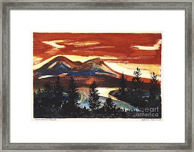 Mountain Sunset Framed Print by Stella Sherman