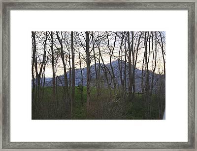 Mountain Sunset Ten Framed Print