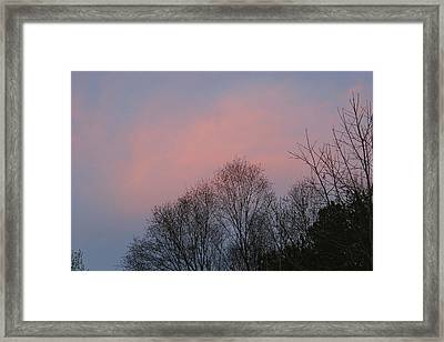 Mountain Sunset Thirteen Framed Print