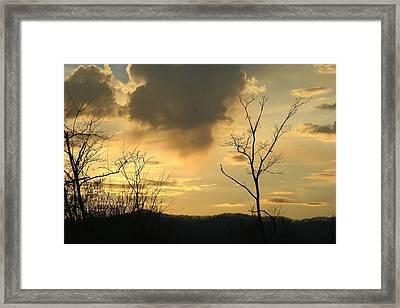 Mountain Sunset Three Framed Print