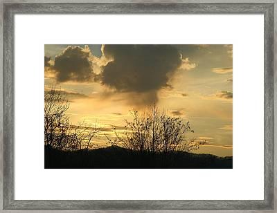 Mountain Sunset Two Framed Print