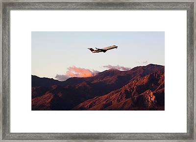 Mountain Takeoff Framed Print by John Daly