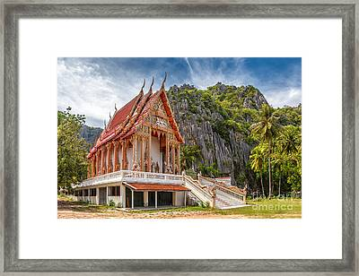 Mountain Temple Framed Print