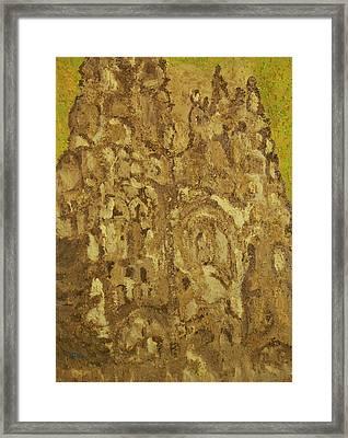 Mountain Temple  Framed Print by Oscar Penalber