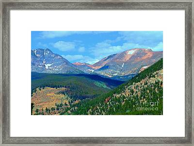 Mountain Top Color Framed Print by Kathleen Struckle