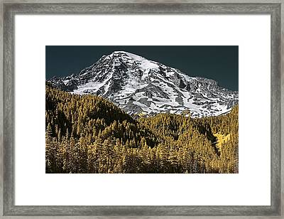 Mountain Top Framed Print by David Stine