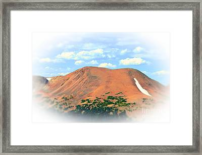 Mountain Top High Framed Print by Kathleen Struckle
