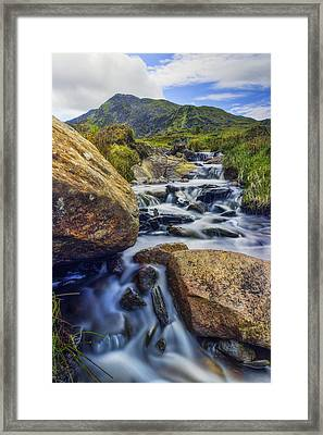 Mountain Top Stream Framed Print by Ian Mitchell