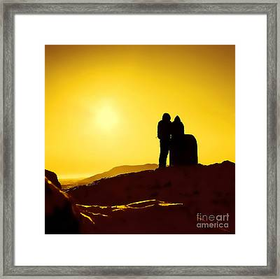 Framed Print featuring the photograph Mountain Top Sunset by Craig B
