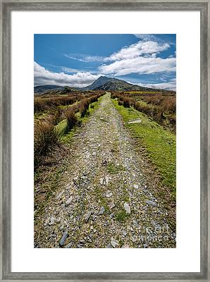 Mountain Track Framed Print by Adrian Evans