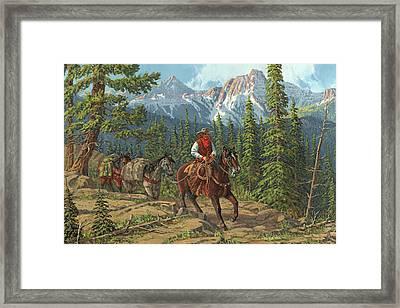 Mountain Traveler Framed Print