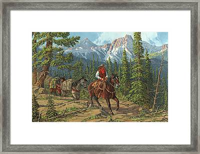Mountain Traveler Framed Print by Randy Follis
