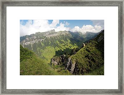 Mountain Valley Framed Print by Michael Szoenyi