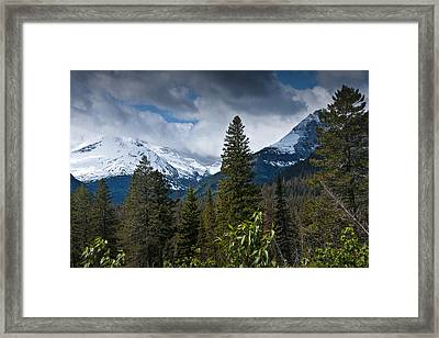 Mountain View At Glacier National Park Photo No. 3024 Framed Print by Randall Nyhof