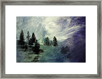 Framed Print featuring the photograph Mountain View by Athala Carole Bruckner