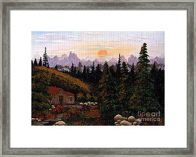 Mountain View Framed Print by Barbara Griffin