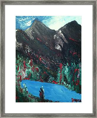 Mountain View Framed Print by Darlene Berger