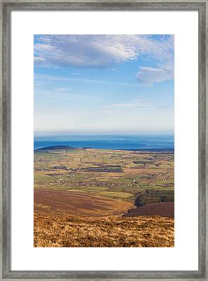 Mountain View From Djouce Mountain Towards Greystones Framed Print by Semmick Photo