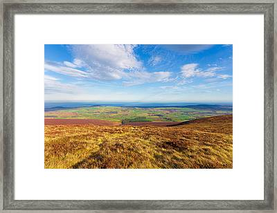 Mountain View From Djouce Towards Greystones Framed Print by Semmick Photo