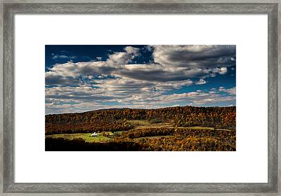 Mountain View In Fall Framed Print
