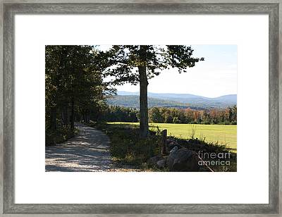 Mountain View Landscape Framed Print by Arelys Jimenez