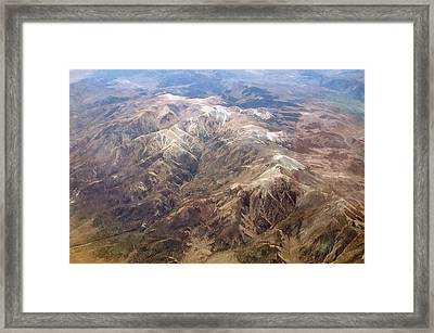 Framed Print featuring the photograph Mountain View by Mark Greenberg